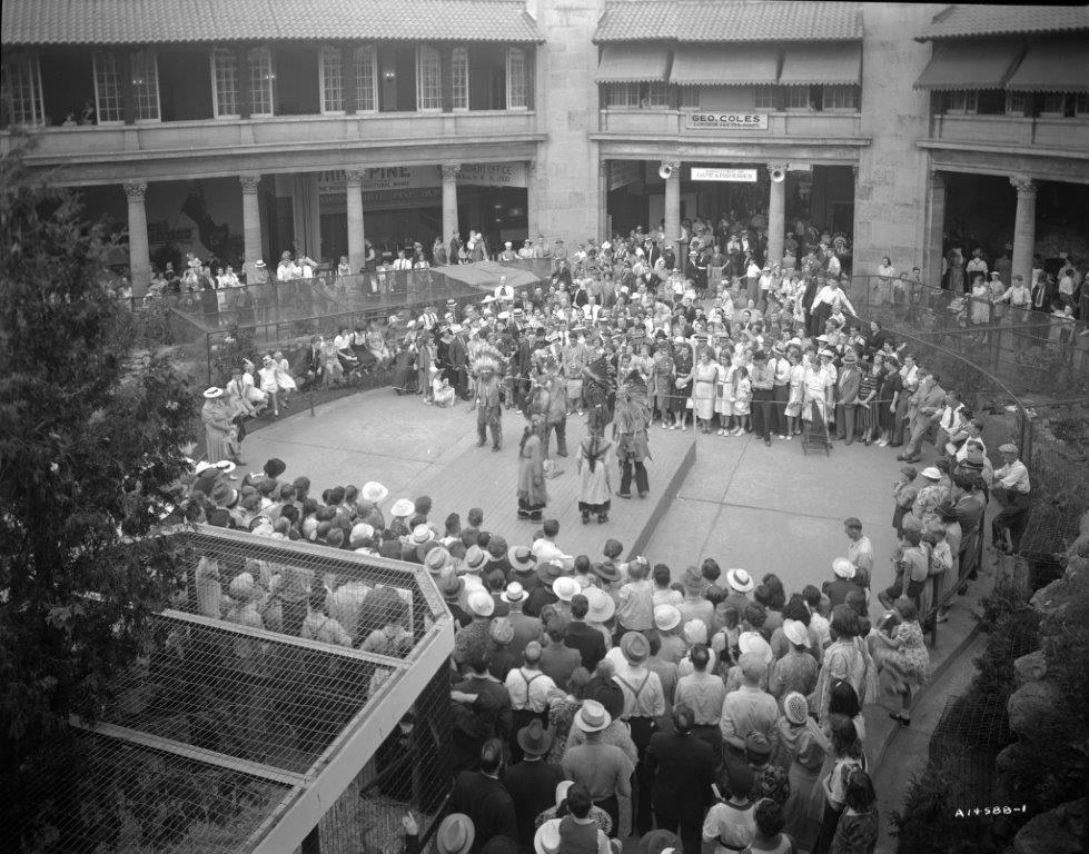 CNE Visitors Watching Aboriginal Performance In The Government Bldg., ca. 1940