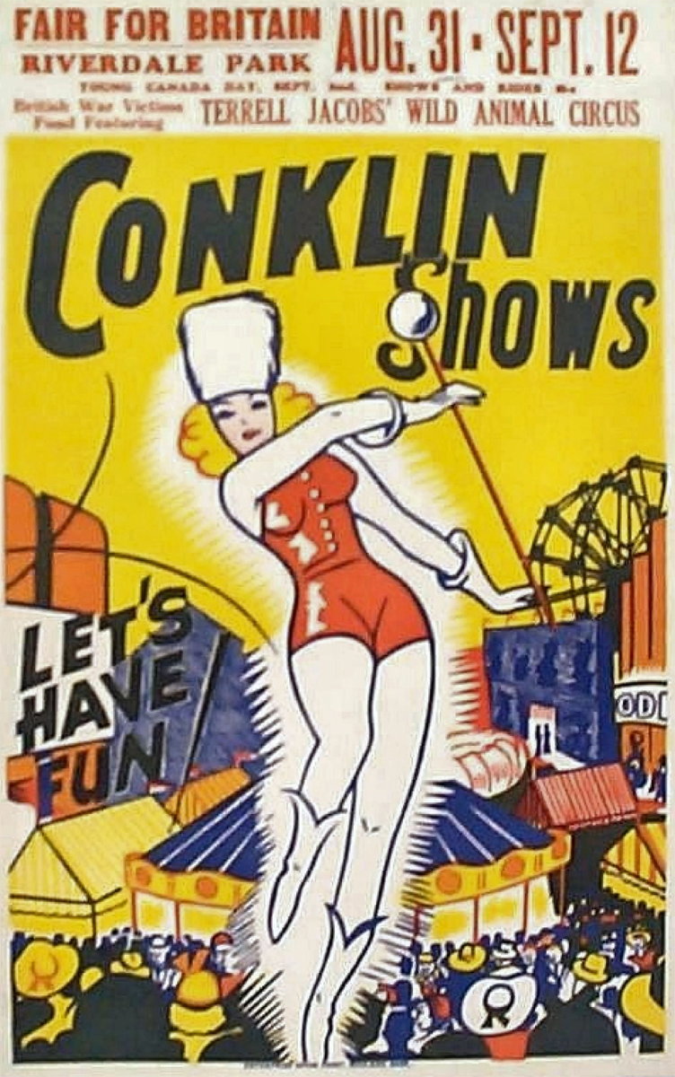 1942 Conklin Show Poster