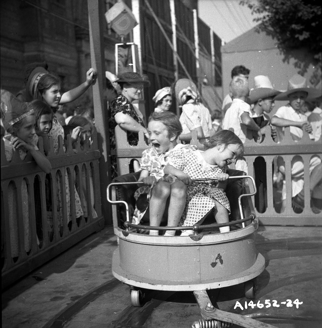 Kids On The CNE Midway, 1940