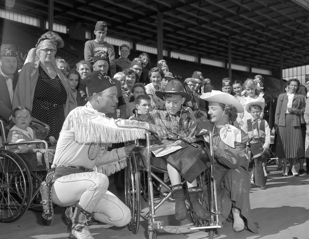 Roy Rogers, Dale Evans  and  CNE Visitors, 1955