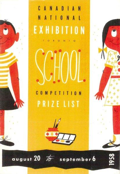 1958 School Prize List Cover