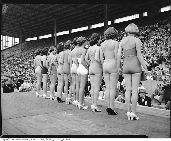Miss Toronto Contest @ The CNE In 1951