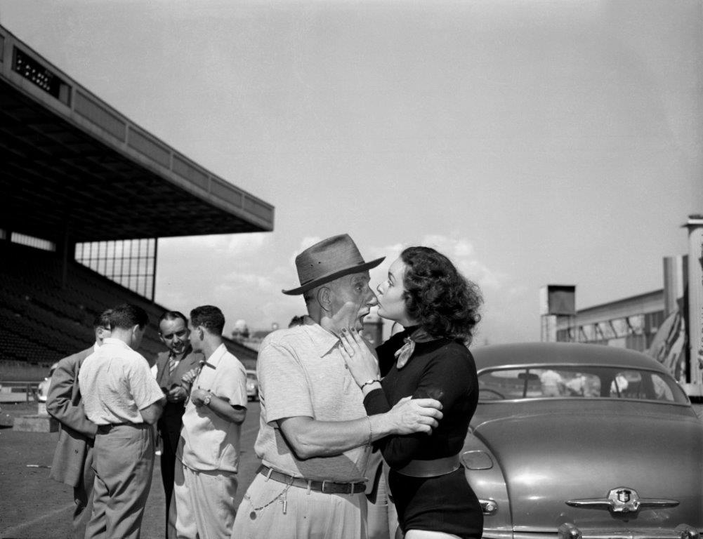 Jimmy Durante Gets A Kiss On His Famous Nose, 1951