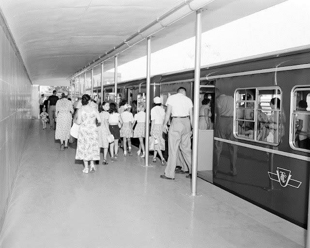 TTC Subway Car Display @ The CNE, ca. 1953