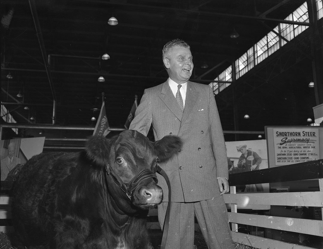 Prime Minister John Diefenbaker  and  Friend, 1957