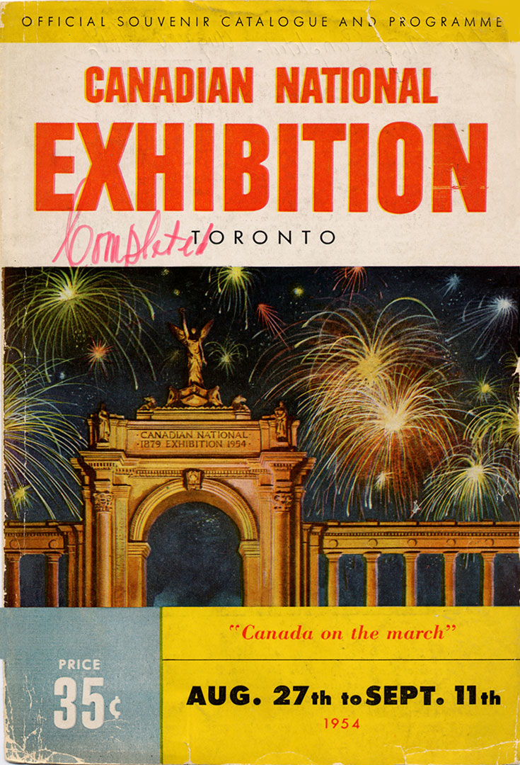 CNE Programme Cover, 1954