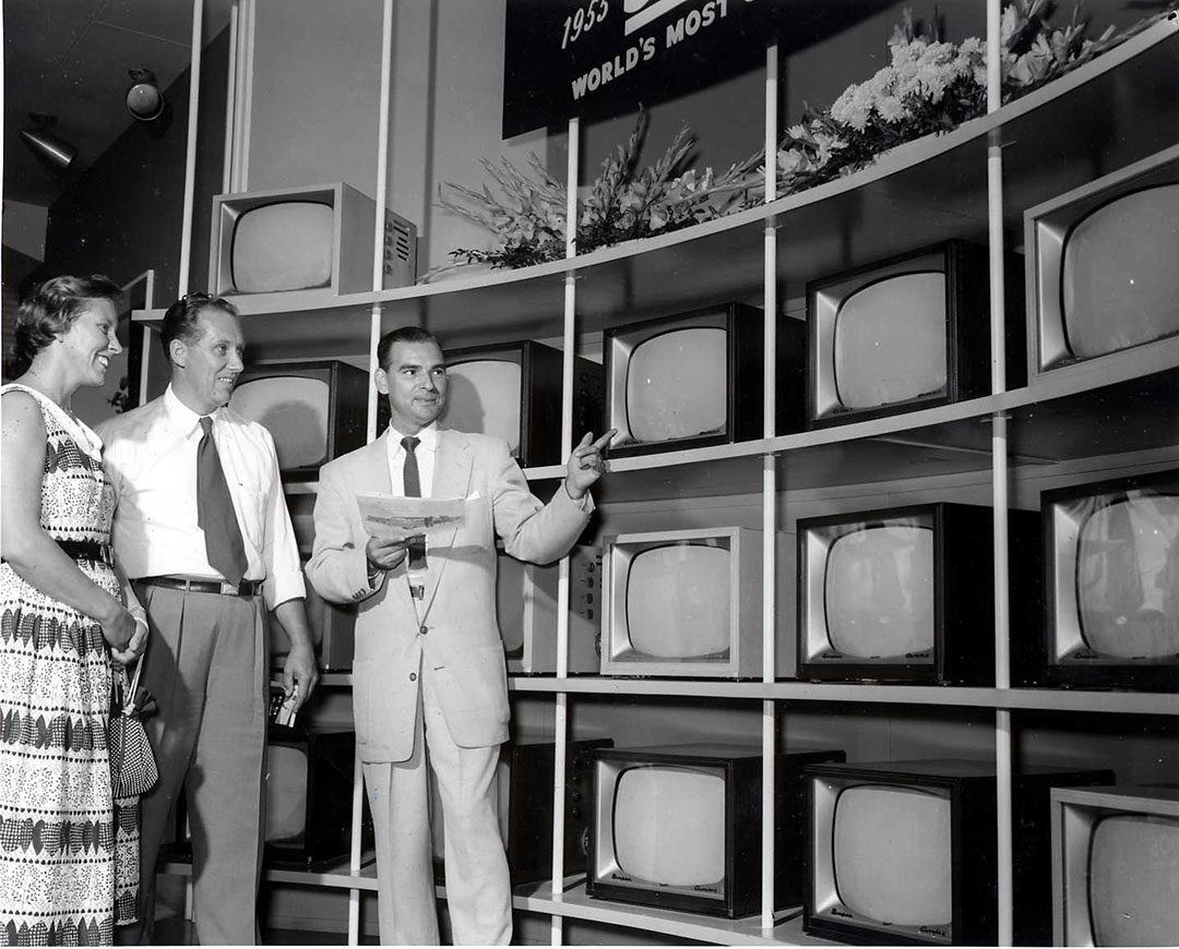 Televisions On Display At The 1950 CNE