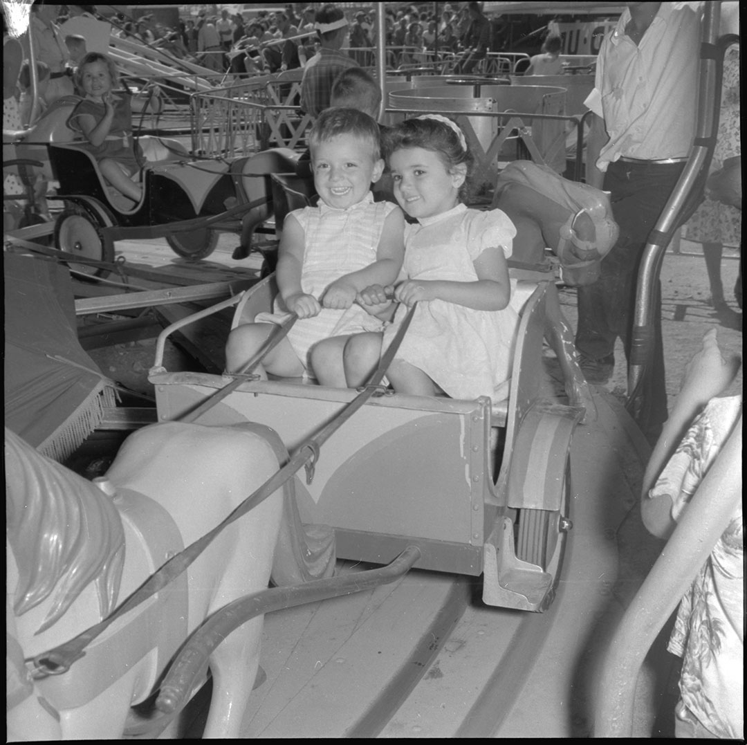 Girls Enjoying A CNE Midway Ride, 1960s