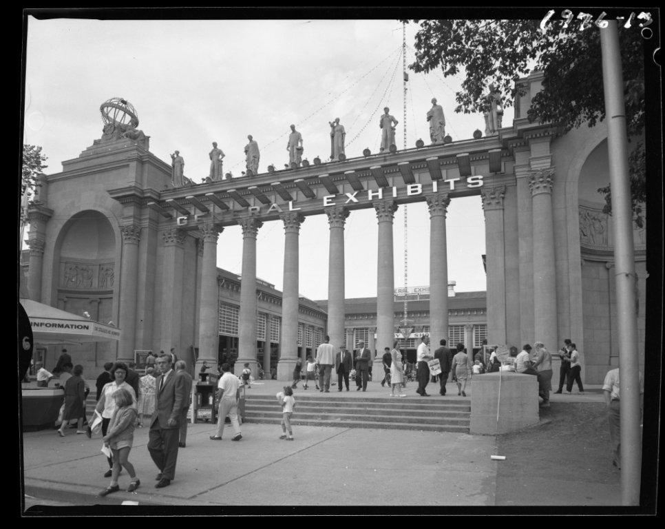 Exhibits Building, ca. 1960s