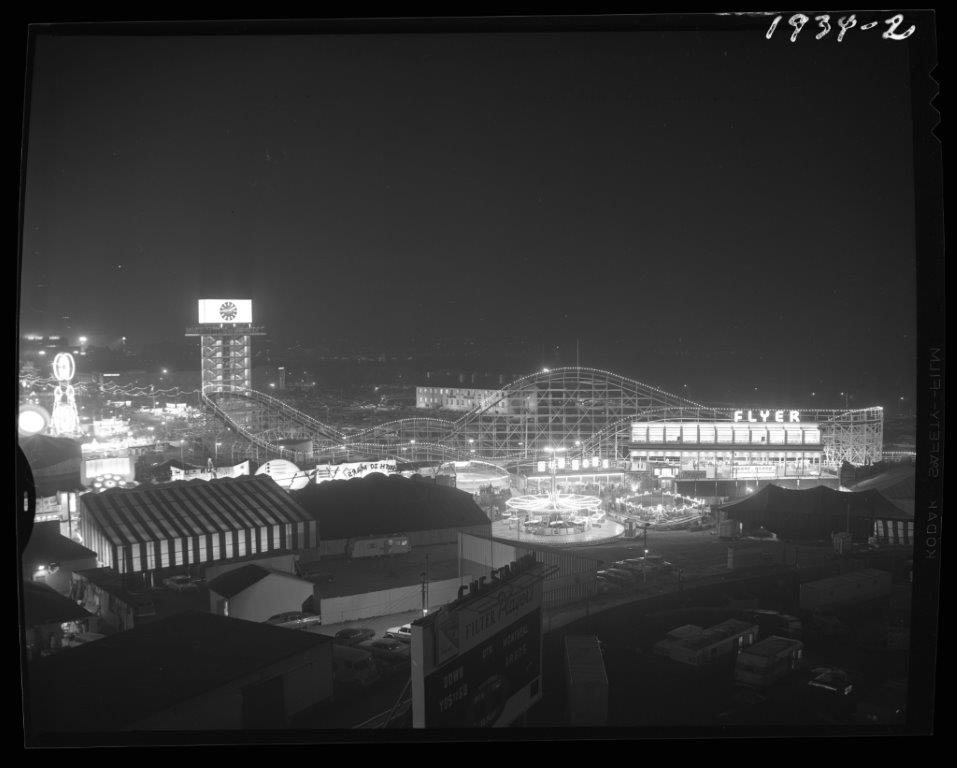 Night View Of Midway From The Grand Stand, 1964
