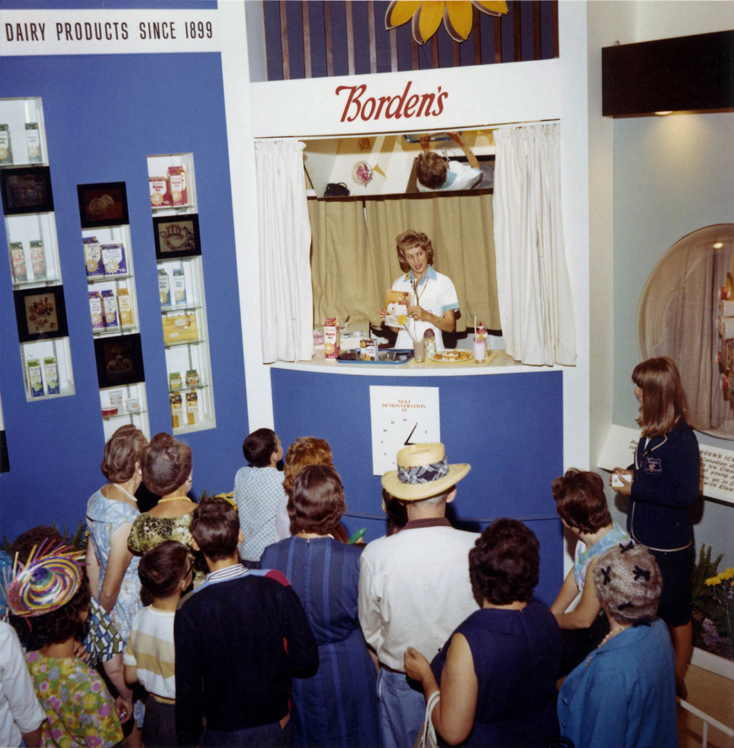 Borden's Display At The CNE, 1960's