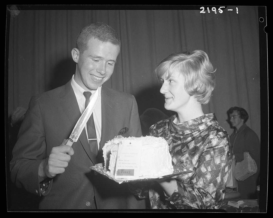 Cake Cutting At Baking Contest, August 31, 1965