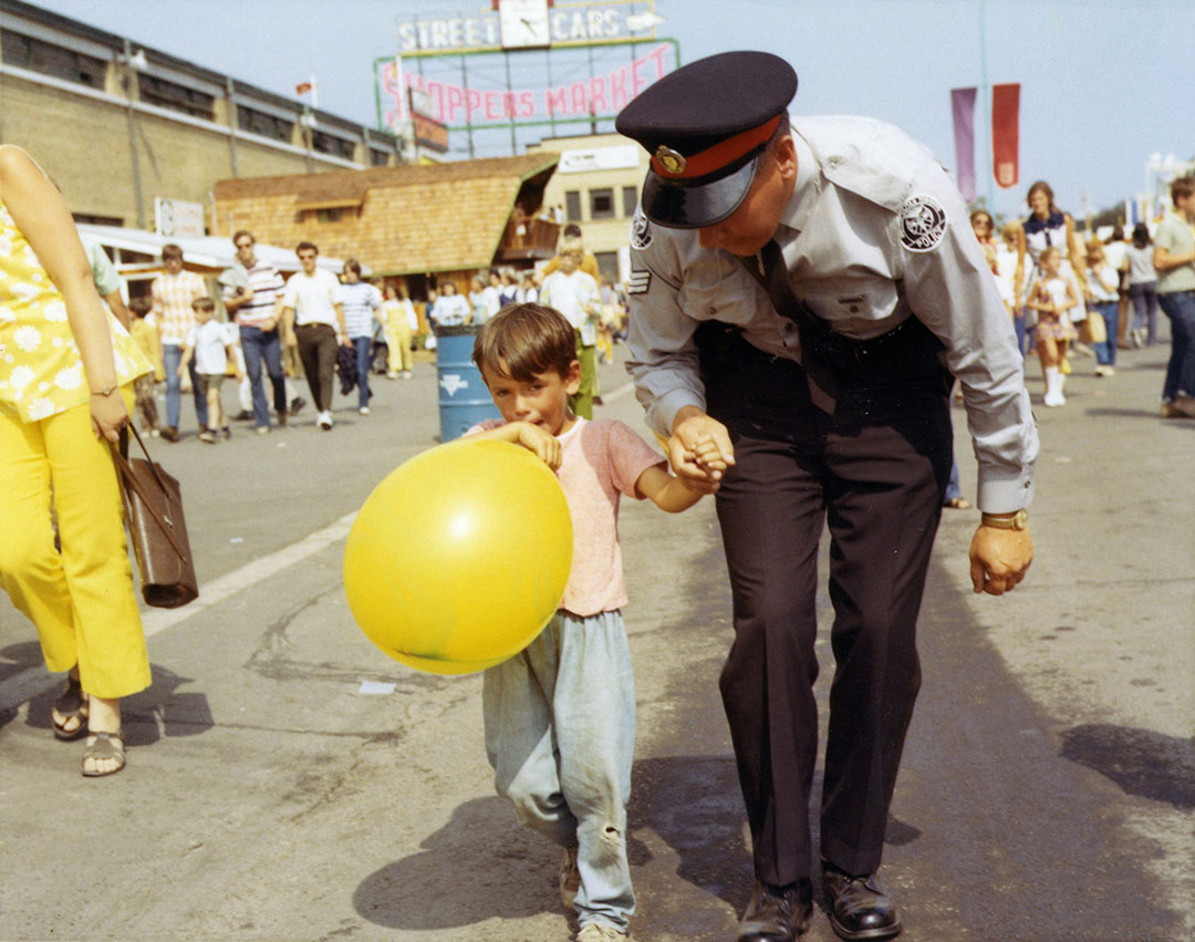 Helping A Lost Child At The CNE, 1960s
