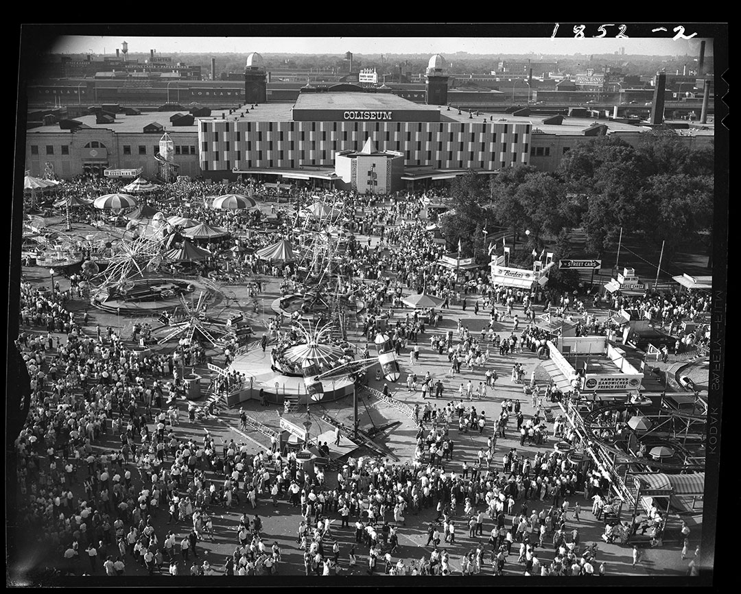 CNE Midway  and  Coliseum; ca. 1960s