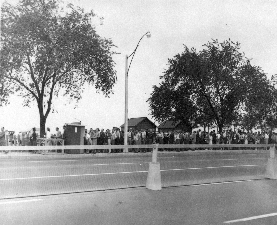 Line Up At The CNE Pedestrian Entrance, 1960