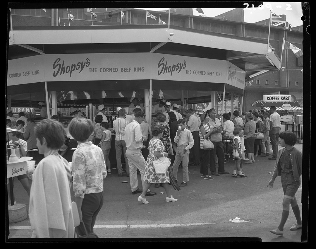 Shopsy's Corn Beef Booth, August 1965